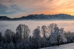 Gmundnerberg Sunset Dezember 2019
