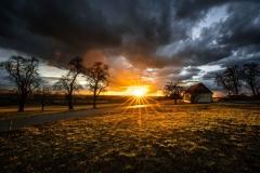 Sonnenuntergang Haag März 2019